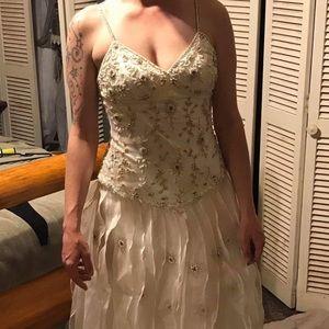 Sue Wong nocturne elegantly beaded wedding dress.